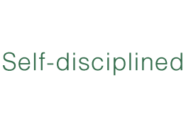 Self-disciplined